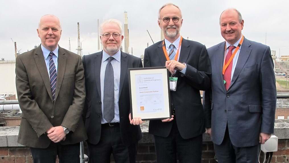 Gold award for petrochemical firm ExxonMobil