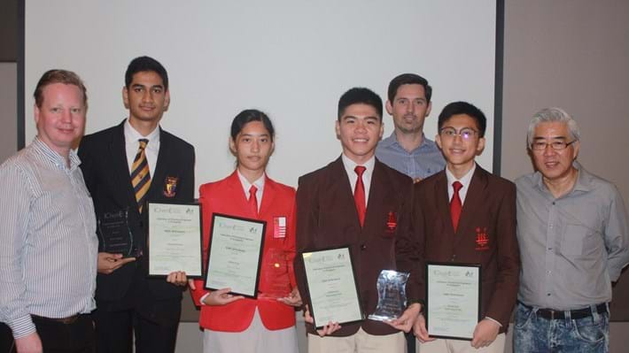 Engineering students recognised at IChemE Singapore AGM