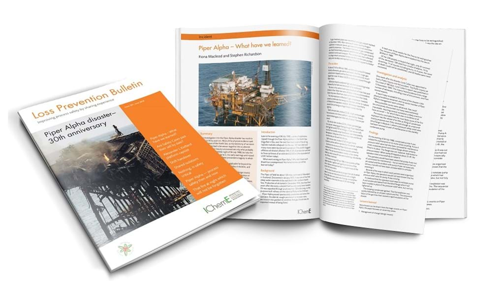 Special journal published to mark the 30th anniversary of the Piper Alpha disaster