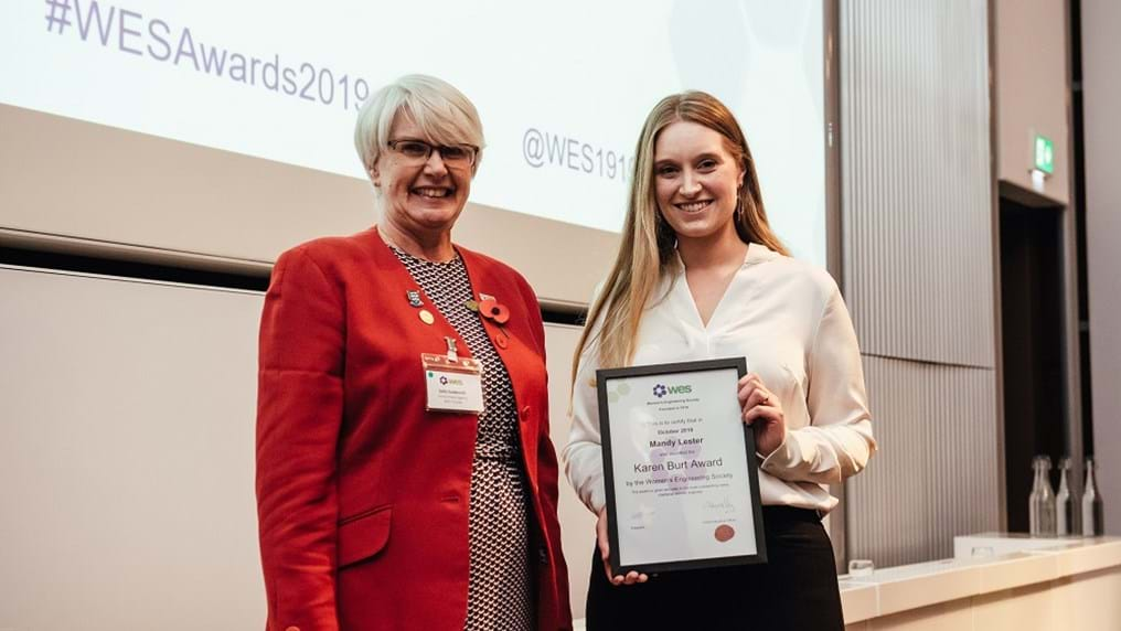 Process engineer recognised with prestigious Women's Engineering Society Award