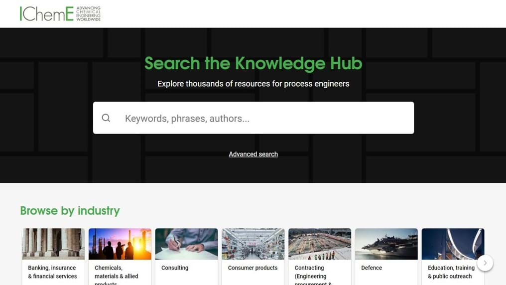IChemE launches new online Knowledge Hub