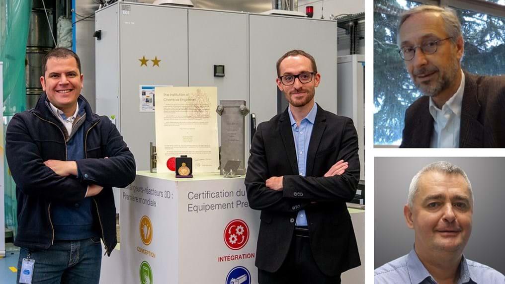 Innovative R&D team awarded IChemE medal for 3D printing article