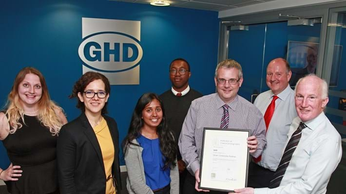 GHD recognised for championing professionally-qualified engineers with Silver award