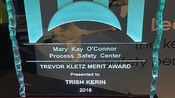 Trevor Kletz Merit Award 2018