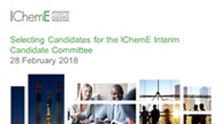 IChemE Interim Candidate Committee announced